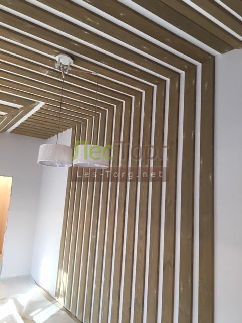 Внутренняя отделка. Деревянные вставки — Вагонка Штиль, материал Сосна,размер 90-120х14х4000 сорт «Натур.