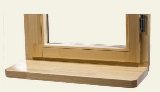 монтаж деревянных подоконников